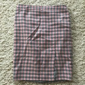 Talbots wool Houndstooth skirt. Size 12